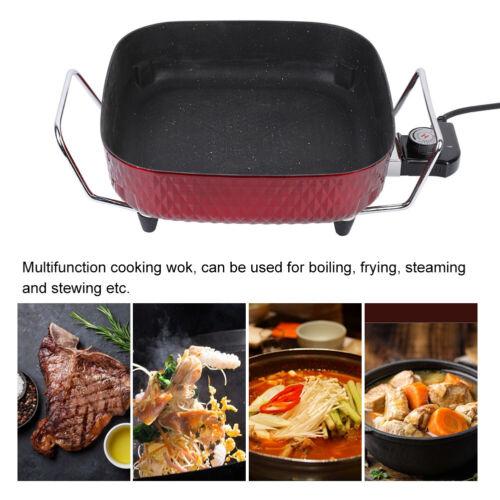Multi Cooker Medium 30cm Diameter Electric Frying Pan Nonstick With Lid Glass UK