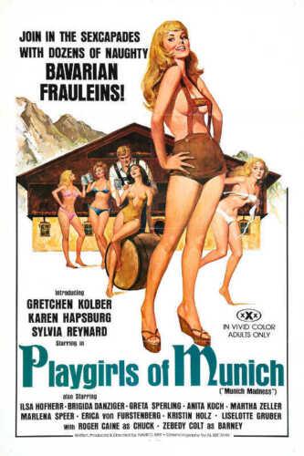 1977 PLAYGIRLS OF MUNICH VINTAGE ADULT FILM MOVIE POSTER PRINT 24x16 9 MIL PAPER