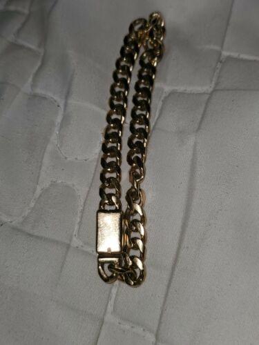10k Cuban Link Bracelet Lock Clasp