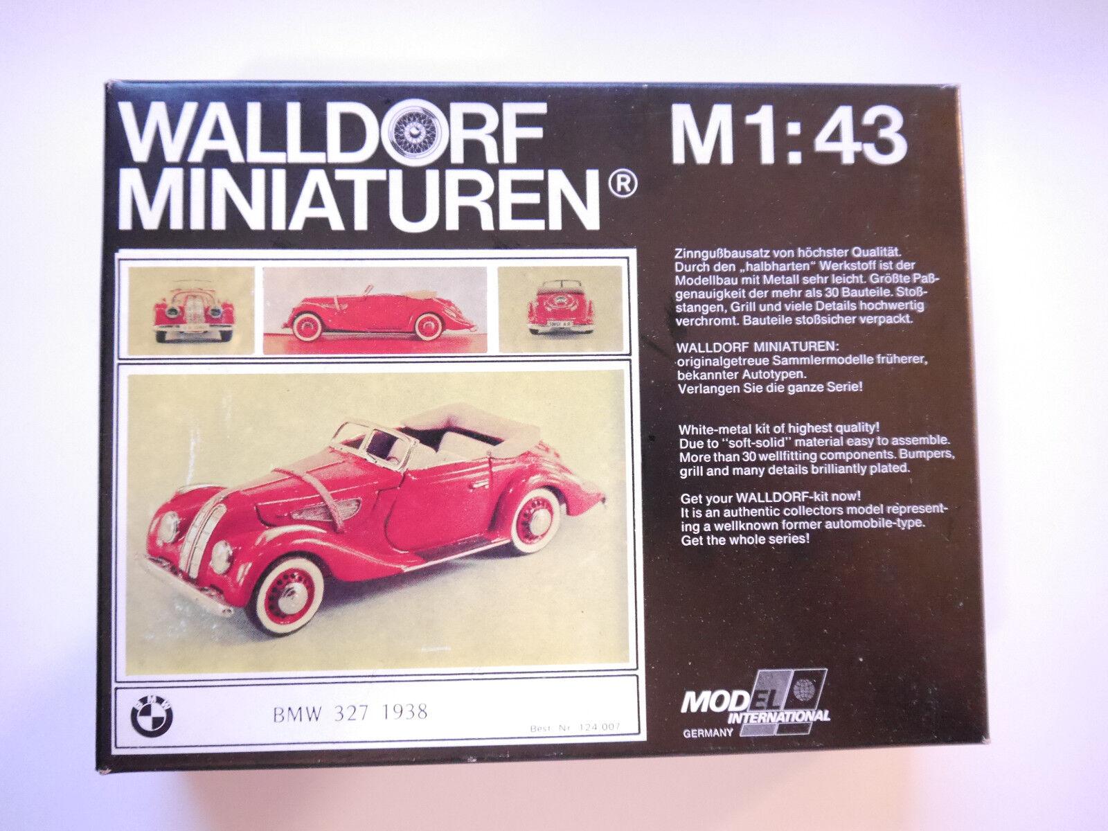 Bmw 327 Cabriolet Converdeible 1938, blancoo metal-kit WM-kit, wall aldea 1 43 Boxed