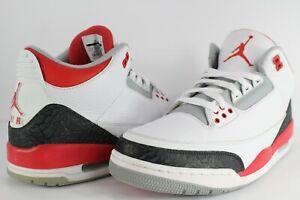 Nike Air Jordan Retro III 3 Fire Red White Silver Black Size 11.5  259a5f483