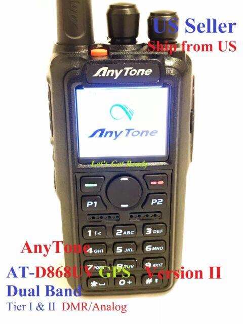 AnyTone AT-D868UV GPS Version 2 Dual Band DMR/Analog 144&430 MHz Radio US seller