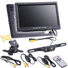 "7"" TFT LCD Car Rear View Backup Monitor+Wireless Parking Night Vision Camer"