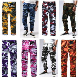 Mens-Military-Army-Combat-Camo-BDU-Pants-Work-Camping-Fashion-Casual-Cargo-Pants