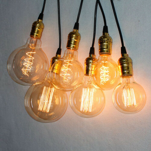 1//4x B22//E27 Vintage Edison Filament Bulbs Indoor Decor Lighting Lamp 40W 60W UK