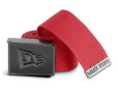 ga New Licensed New Era Enamel Logo Buckle Belt Red Adjustable Last Ones