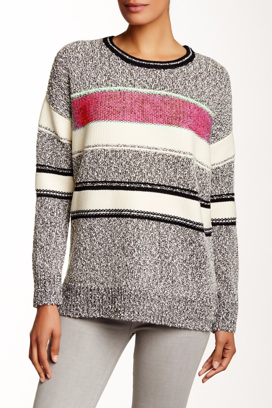 VINCE. Boucle Easy Fit Sweater, V327176259 Ruby Combo