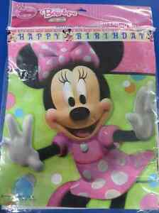 Image Is Loading RARE Minnie Mouse Bow Tique Disney Birthday Party