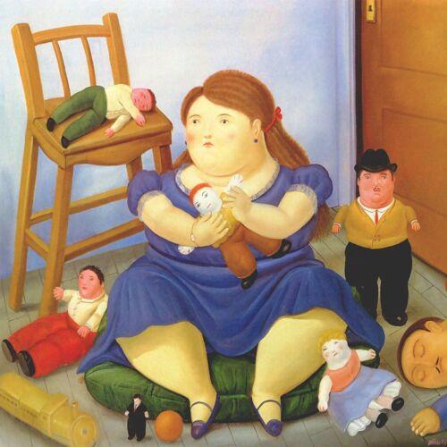 Poster Botero cod 22  cm 50x50 Affiche Cartel Kunstplakat papiarte