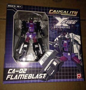 Transformers Fansproject Ca-02 Causality Flameblast Crossfire Nouveau Bruticus Membre
