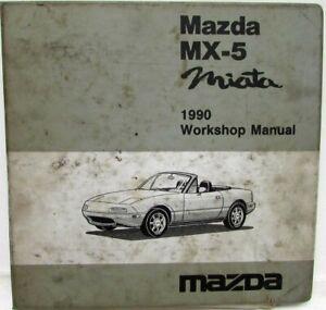 1990 Mazda MX-5 Miata Service Shop Manual w/ Wiring ...