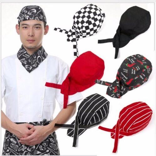 Professionale Bandana Chef Ristorante Cucina Cuoco Berretto Cappello M1 BYzwF1x