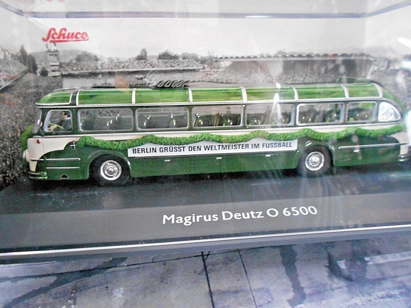 Magirus deutz omnibus - bus (6500 o6500 fu ß ball wm 1954 weltmeister schuco 1 43