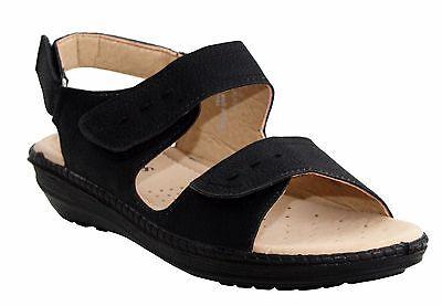 Comodidad de Verano para Mujer Con Taco Bajo Damas Zapatos Toque Fijar Sandalias Zapato