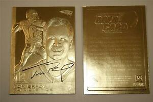 TOM-BRADY-2005-Sculptured-Gold-Card-Limited-Edition-NM-MT-New-England-Patriots