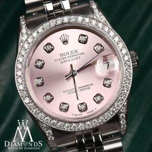 Details about Rolex 31mm Datejust Metallic Pink Diamond Accent Dial \u0026 Bezel  Stainless Steel