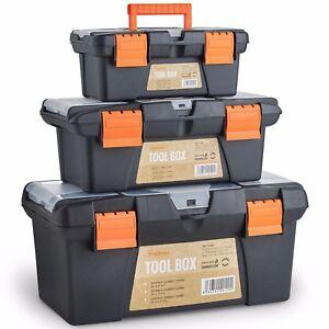 "VonHaus Tool Box Storage Set of 3 Organiser Trays 10"" 13"" 16"" Nuts Bolts Screws"