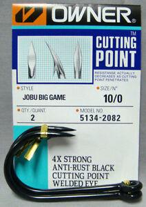 OWNER 5134-2082 Jobu Big Game Hook Size 10/0 Pack of 2 + Free Post