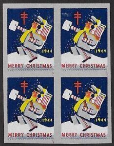 Canada Tuberculosis Christmas stamp 1944 - Catalog #35P, Proof Block - dw6.54