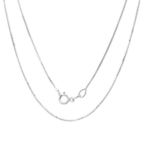 Sterling Silver 16-inch Box Chain 1mm Made In Italy