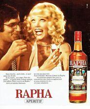 Publicité Advertising 037  1975  apértif rivesaltes Rapha
