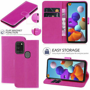 Wallet-Flip-Case-For-Samsung-Galaxy-A11-A51-A71-A21-Genuine-Leather-Cover-Pink