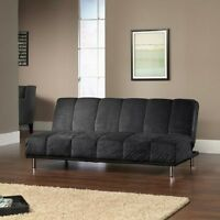 Black Convertible Sofa Sleeper Futon Home Living Room Seating Dorm Furniture