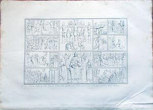 Stampa-incisione-1850s-Affreschi-Chiesa-di-Sant-039-Urbano-Caffarella-Roma-Tav-XCIV