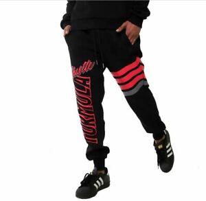 Mens Black Pink Sweats Pants Joggers