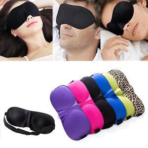 3d masque de nuit sommeil cache yeux bandeau relaxation anti lumi re fatigue ebay. Black Bedroom Furniture Sets. Home Design Ideas