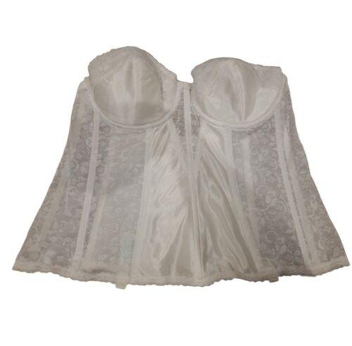 Vintage Carnival Corset Lace White Size 42B - image 1