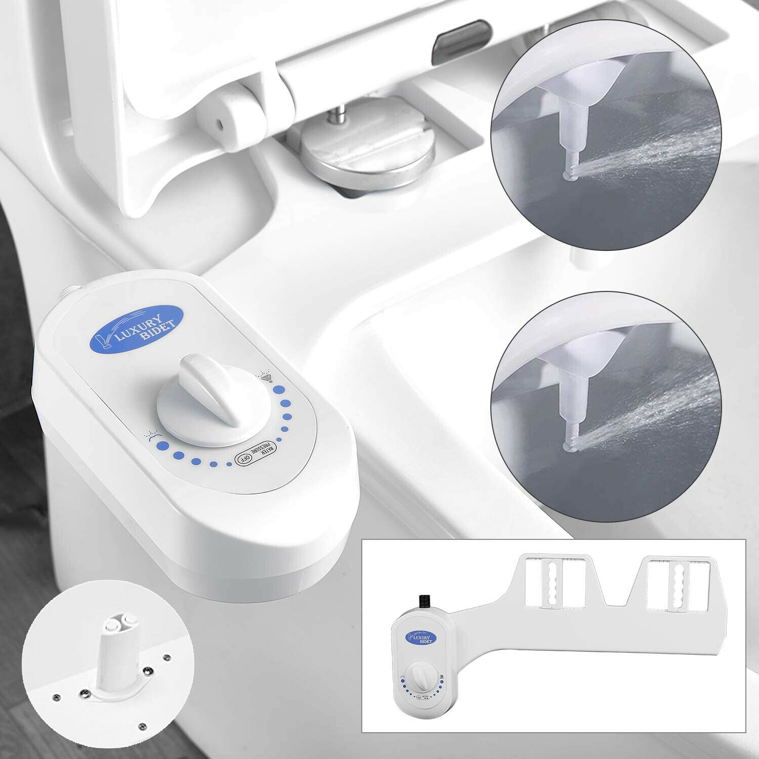 Us New Dual Women Nozzle Water Spray Non Electric Bidet Toilet Seat Attachment For Sale Online