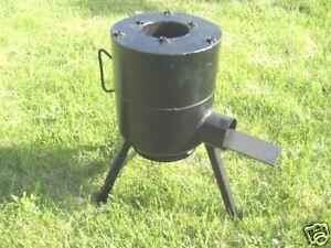 Wood Burning Rocket Stove Camping Hunting Cooking Stove Ebay