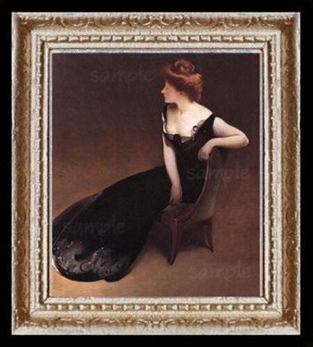 A Victorian Lady Portrait Miniature Dollhouse Picture