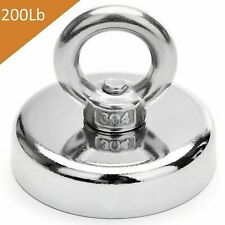 200lbs Fishing Magnet Super Strong Neodymium Round Eye Bolt 142 Inch Diameter