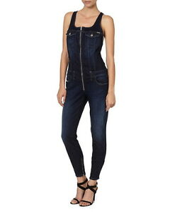 122d6b705b3 Image is loading Diesel-Jeomp-dark-blue-denim-jumpsuit-JEOMP-JOGGJEANS-