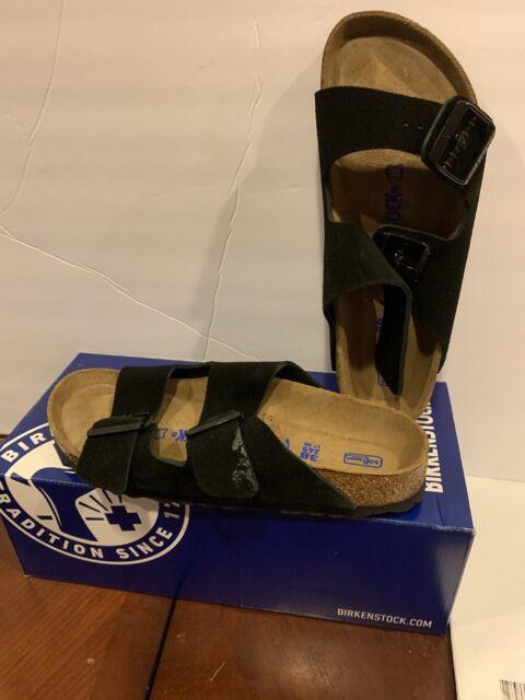 New Birkenstock's EU 38 Black Sandals Arizona US Ladies Sz 7 Narrow fit
