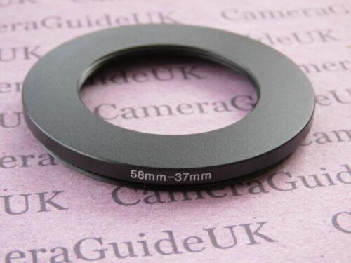 58mm A 37mm 58mm-37mm Stepping Step Down filtro anillo adaptador