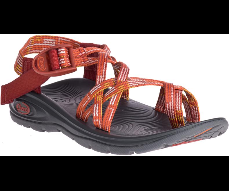 CW79 New Chaco Z Volv X2 Sandal Trail Beach Casual Water Women 7 orange Rust