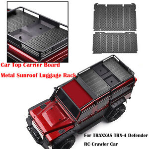 Metall-Auto-Traegerplatte-Anti-Rutsch-Platte-fuer-TRAXXAS-TRX-4-Defender-RC-Car
