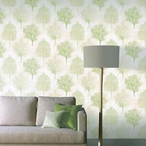 Arthouse-Pays-des-Merveilles-Arbres-Papier-Peint-256703-Vert-Paillette-Texture