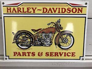 1980s Harley Davidson Jd 1928 Motorcycle Parts Service Porcelain Enamel Sign Ebay