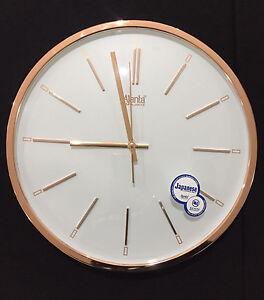 Copper color Wall Clock Quartz clock RSS movement Glass Top new home office