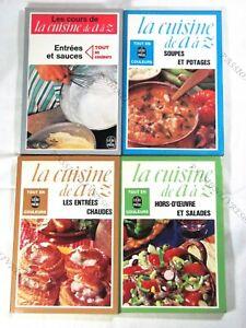 Brillant Lot De 4 Livres La Cuisine De A à Z - Le Livre De Poche - 1975/1978 - Tbe3*