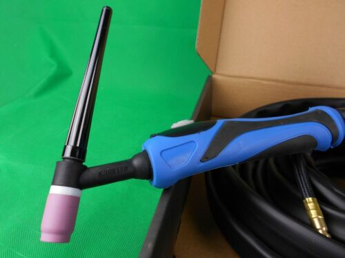 WP-20F Water Cooled 8 mtr 35//50 Water Cooled TIG Torch 200A Bonus Gaslens Kit