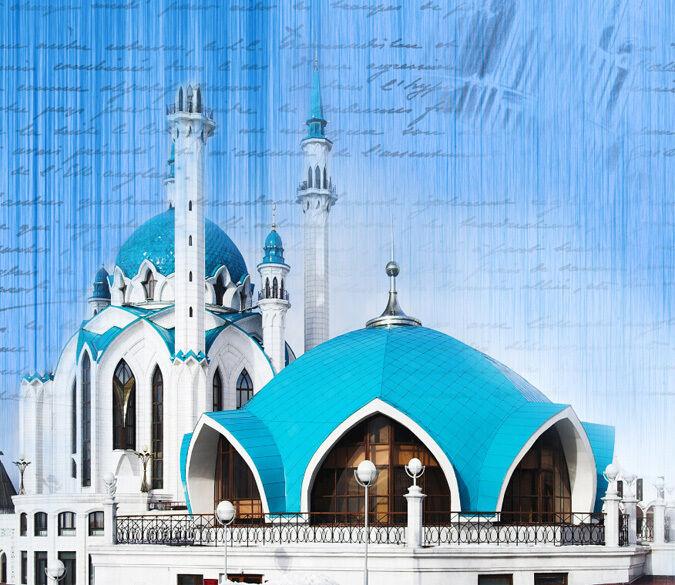 3D 3D 3D Der berühmte Blaue Tempel Fototapeten Wandbild Fototapete BildTapete Familie f1aa2c