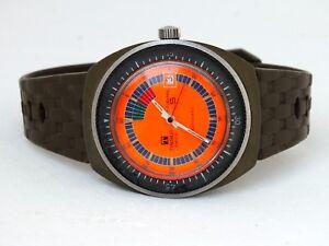 Raro-Tissot-Sideral-S-date-anni-039-68-circa-fibra-di-vetro-automatico