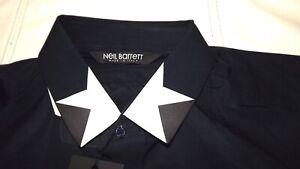 NEIL-BARRETT-CAMICIA-NUOVA-COLL-40-AUTENTICA-329-00-CARTELLINO-BLU-7445632914982