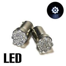 2x White 9-LED [BA15D,1142] 12v Light Bulbs XE5