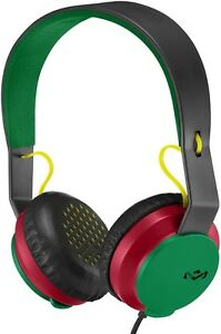 House-of-Marley-Roar-On-Ear-Rasta-Wired-Headphones-with-1-Button-Microphone